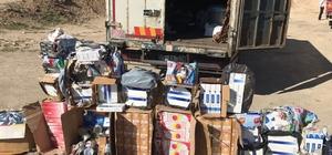 Başkale'de 35 bin paket kaçak sigara ele geçirildi
