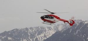 Ambulans helikopter 80 yaşındaki hasta için havalandı