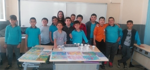 Balyalı öğrenciler ebru sanatı ile tanıştı