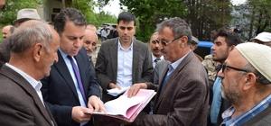 Tokat'ta köylülerin sınır anlaşmazlığına çözüm arayışı