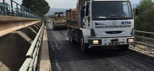 Regülatör köprüsüne sıcak asfalt