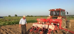 Çiftçinin mısır ekimi mesaisi başladı
