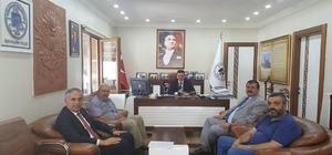 Başkan Yaman'dan Başkan Yalçın'a ziyaret