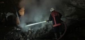Başkentte mandıra yangını