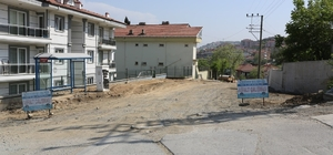 Karadere Caddesindeki yol yapım çalışmalarında sona gelindi
