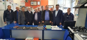 Başkan Yalçın'a Bursa'dan ziyaret