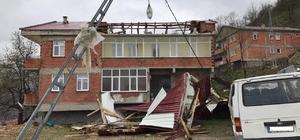 Trabzon'da 23 Nisan'daki şiddetli fırtınanın hasar tespit çalışmaları tamamlandı