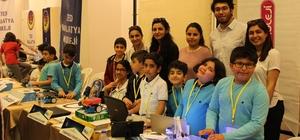 Çınar Koleji öğrencisi Kemal Şahin robot yarışmasında birinci oldu