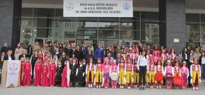 Sivas'ta Halk Eğitim Merkezi kursiyerleri sergi açtı