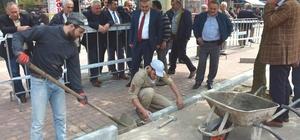 Görele'de Meydan Projesi yapımına başlandı