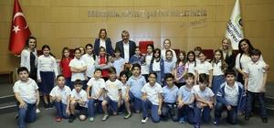 Başkan Şenol'dan miniklere yerel yönetim dersi