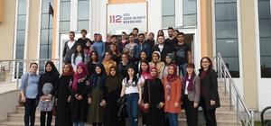 Düzce Üniversitesi öğrencilerinin 112 çağrı merkezi ziyaretleri devam ediyor