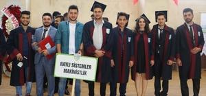KBÜ Eskipazar MYO 6 programdan 500'e yakın öğrenci mezun verdi
