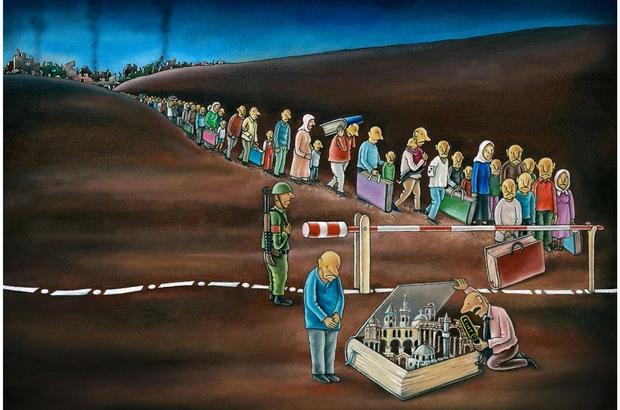 Karikatür yarışmasının ödül töreni Kocaeli Kitap Fuarı'nda