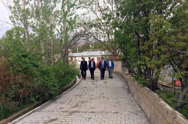 Erzincan köyleri kilit parkeli yollara kavuşuyor