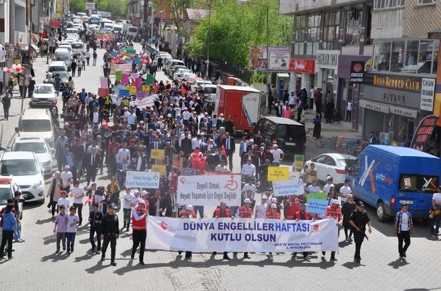 Muş'ta Engelliler Haftası yürüyüşü
