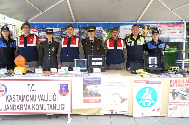 Kastamonu'da trafik güvenliği sergisi açıldı