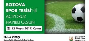 Bozova spor kompleksi açılıyor