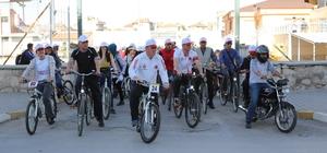 """Karaman'da """"sağlık için pedal çeviriyoruz"""" etkinliği"""