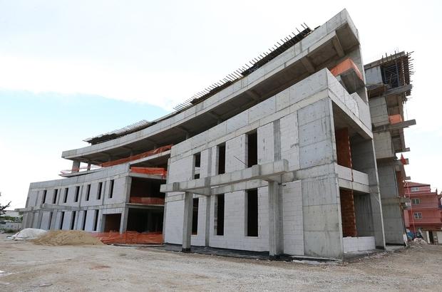 Pamukkale Belediyesi Sağlık Kompleksinin kaba inşaatı tamamlandı