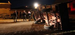 Tarım işçilerini taşıyan traktör kaza yaptı: 12 yaralı