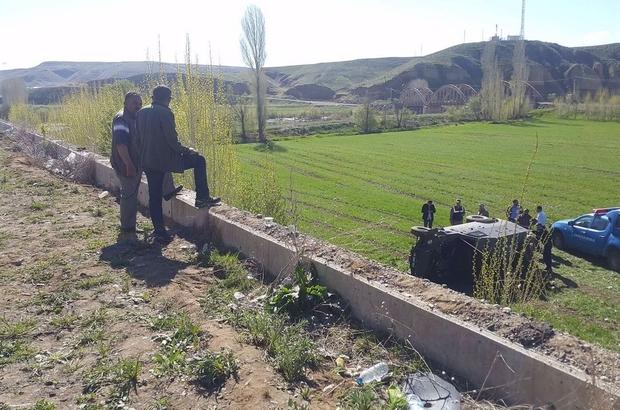 Horasan'da askeri zırhlı araç kaza yaptı: 3 asker yaralı