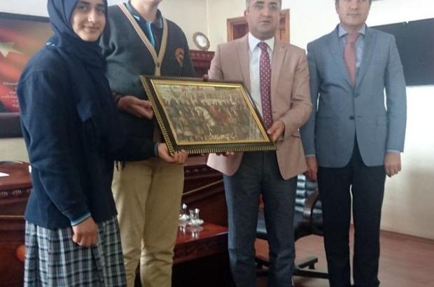 Kaymakam Çınar'a teşekkür ziyareti