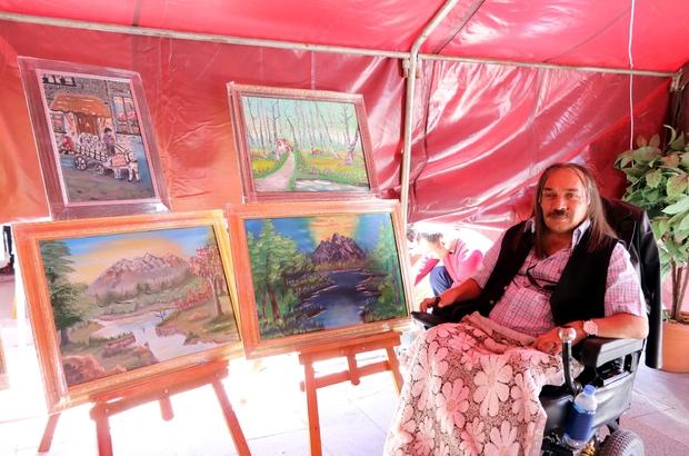 Yozgat'ta engelliler el emeklerini sergilediler