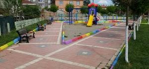 Pazaryeri'nde çocuk parkları rengarenk oluyor