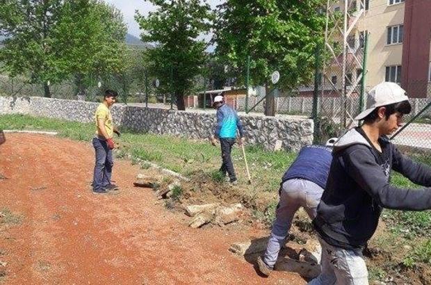 Bayırköy'de çevre düzenleme çalışmaları devam ediyor