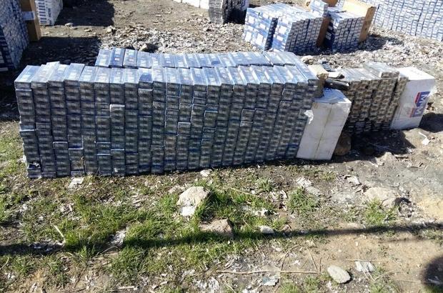 Çaldıran'da 34 bin 210 paket kaçak sigara ele geçirildi