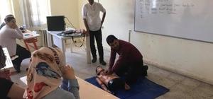 Halk eğitim merkezsinin ilk yardım kursu devam ediyor
