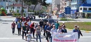 """Alaçam'da """"Sağlık İçin Hareket Et"""" yürüyüşü"""