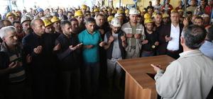 Madenciler, şehit meslektaşları için dua etti