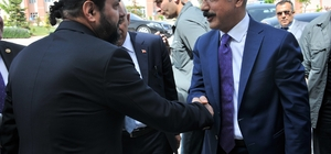 Bakan Elvan'dan Rektör Akgül'ü ziyaret