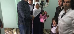 Kaymakam Gülenç, şehit annelerini ziyaret etti