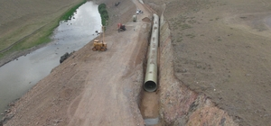 DSİ'nin Kars'ta sulama inşaatları devam ediyor