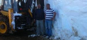 Doğu Karadeniz'de karla mücadele devam ediyor