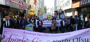 Başkan Atila Aydıner, annelere karanfil dağıttı