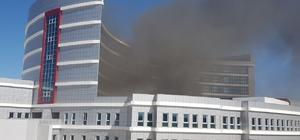 Beyşehir'de hastane inşaat alanında yangın