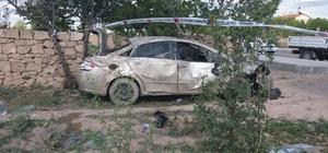 Otomobil duvara çarptı: 1 ölü, 3 yaralı
