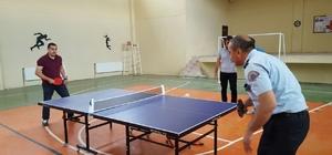 Pazarlar'da masa tenisi turnuvası sona erdi