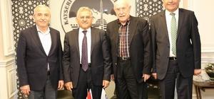 Hayırsever iş adamı Mustafa Eminoğlu'ndan Melikgazi Belediyesi'ne ziyaret