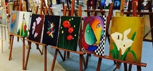 Erdemir Anadolu Lisesinden yağlı boya sergisi