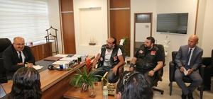 otosiklet Kulübü Üyelerinden Kocasinan'a Ziyaret
