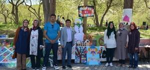 Anaokulu öğrencilerinden yılsonu sergisi