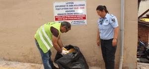 Zabıtadan vatandaşlara 'zamansız çöp' uyarısı