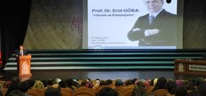 """BEÜ'de İnternet ve Psikolojimiz"""" başlıklı konferans gerçekleştirdi"""