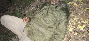 Dağda mahsur kalan kişi kurtarıldı