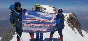 Gürünlü dağcılar Erciyes Dağı'na tırmandı